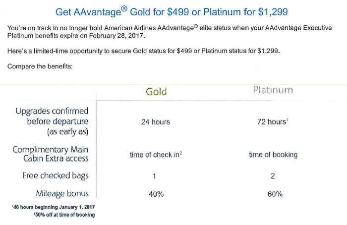 american-airlines-aadvantage-secure-elite-status-for-2017-gold-platinum