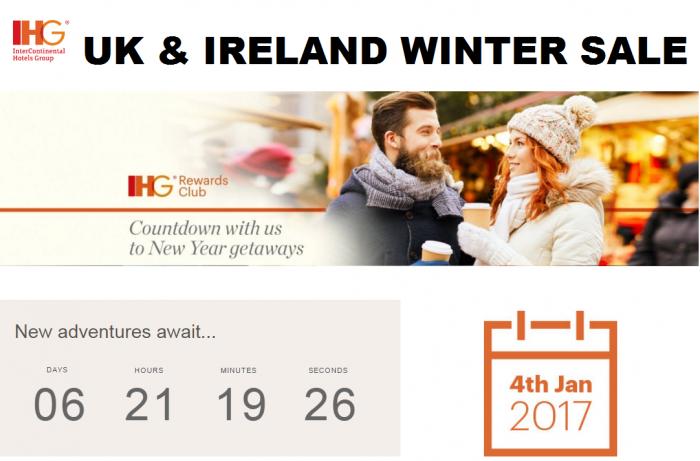 IHG Rewards Club UK & Ireland Winter Sale