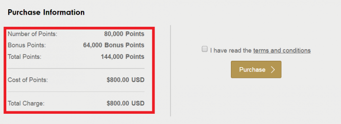 Hilton HHonors Buy Points January 2017 Campaign Price