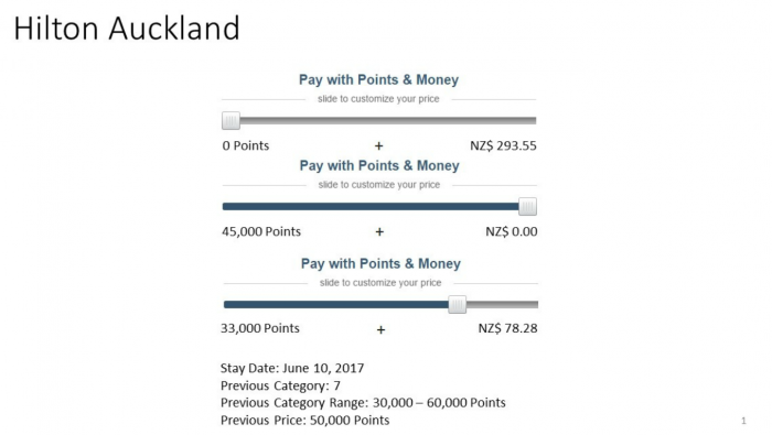 Hilton HHonors Changes Points Money Examples