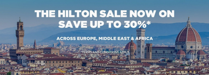 Hilton HHonors Europe Middle East & Africa Winter Sale