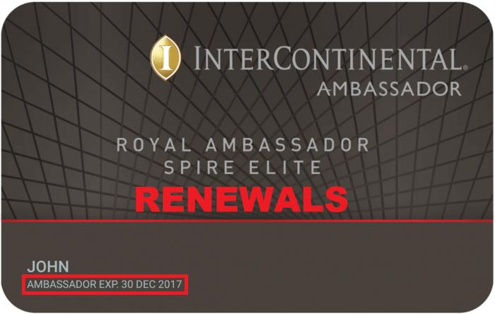 InterContinental Royal Ambassador Renewal Main