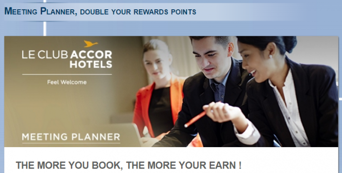 Le Club AccorHotels Meeting Planner Promo January 30 - July 31 2017
