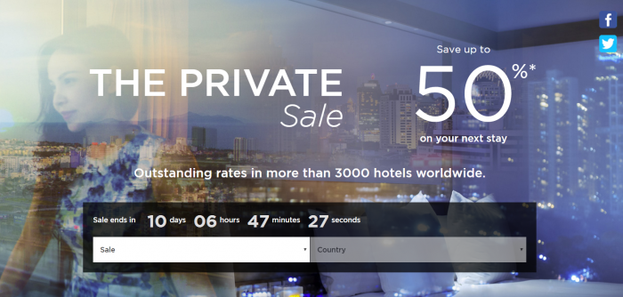 Le Club AccorHotels Private Sales January 2017