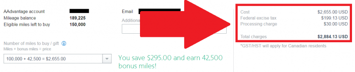 American Airlines AAdvantage Buy Miles Campaign February 2017 Price
