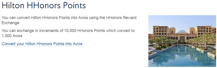 British Airways Execuitve Club Hotel Points To Avios Conversion Bonus February 2017 Hilton HHonors