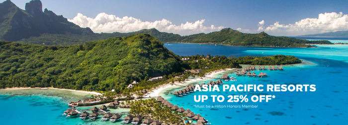 Hilton Honors Asia Pacific Up To 25% Off Sale For Stays Until December 31 2017