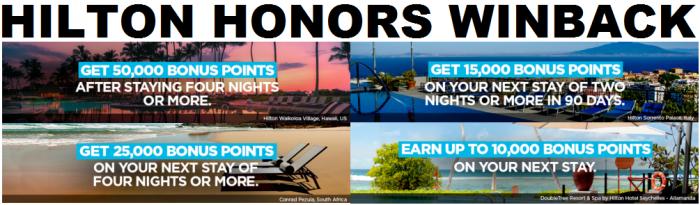 Hilton Honors Winback 2017