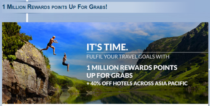 Le Club AccorHotels Asia Pacific 40 Percent Off Sale + Million Points Giveaway