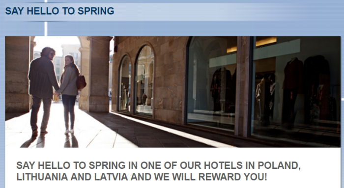 Le Club AccorHotels Polan Latvia Lithuania Up To 500 Bonus Points Per Stay February 14 - May 7 2017
