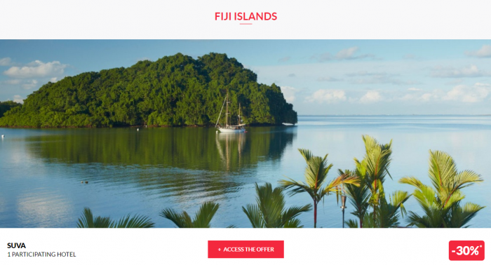Le Club AccorHotels Worldwide Up To 50 Percent Off Private Sales February 1 2017 Fiji 1