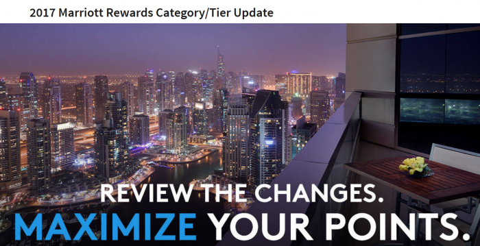Marriott Rewards Award Category Changes March 7, 2017