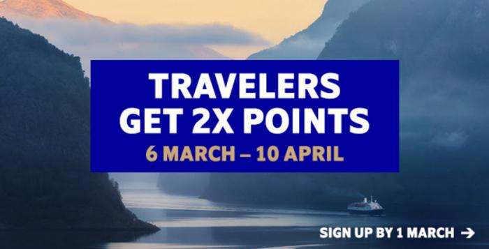 SAS Eurobonus Double Points March 6 - April 10 2017