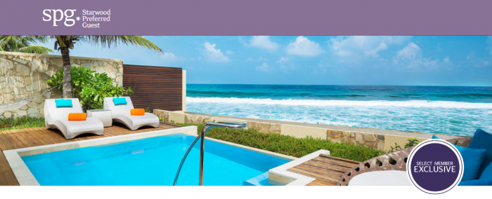 Starwood Preferred Guest (SPG) Select Member Exclusive 19 & 20