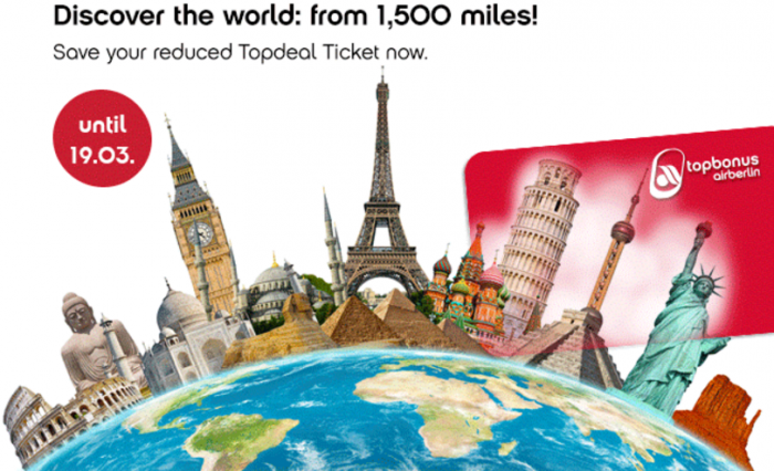 Airberlin Topbonus Topdeal Tickets March 2017