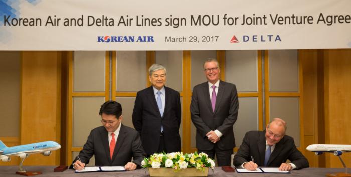 Delta Air Lines & Korea Air MOU