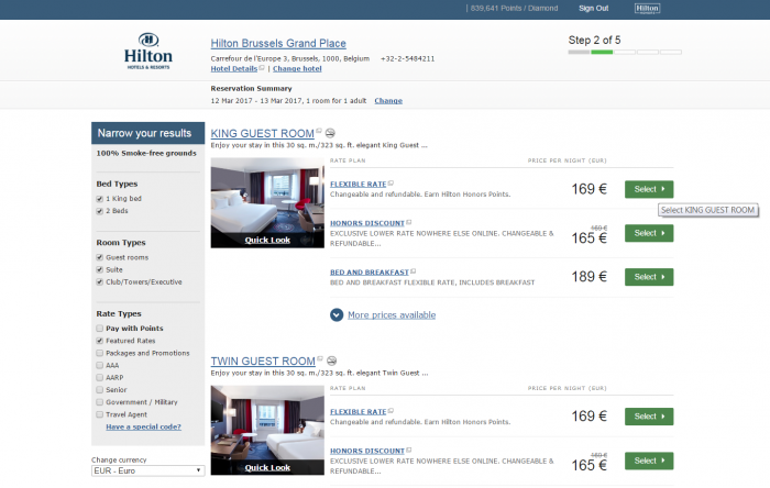 Hilton Best Rate Guarantee Grand Palace Brussels