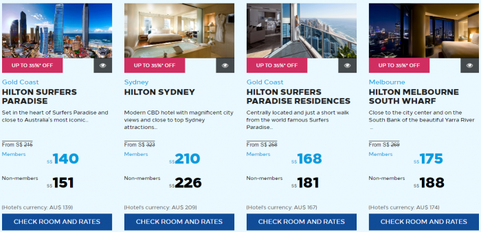 Hilton Honors Asia-Pacific March 2017 Flash Sale Australia New Zealand South Pacific