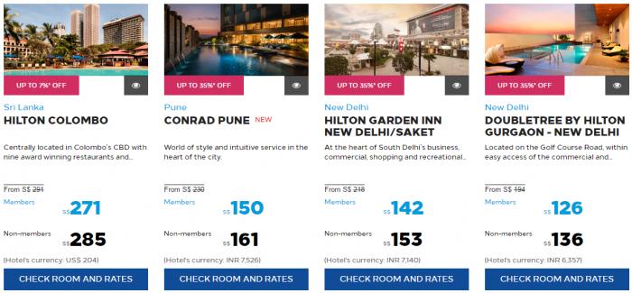 Hilton Honors Asia-Pacific March 2017 Flash Sale Maldives India Sri Lanka