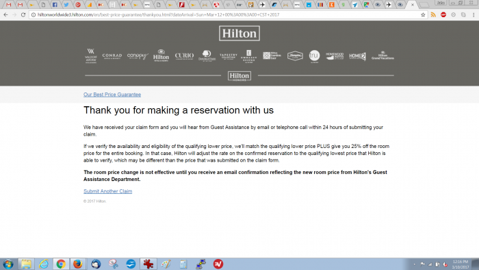 Hilton Honors Best Rate Guarantee Brussels Grand Palace Submission