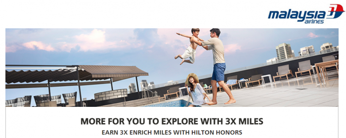 Hilton Honors Malaysia Airlines Up To Triple Enrich Moles March 15 - June 30 2017