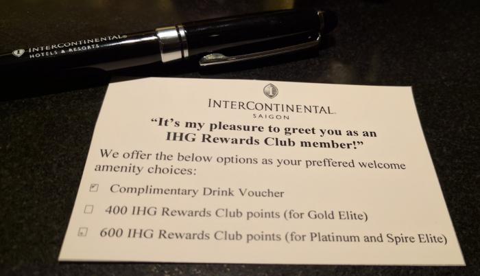 IHG Rewards Club Complimentary Drink Voucher