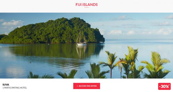 Le Club AccorHotels Worldwide Private Sales February 29 Fiji 1