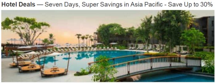 Marriott Rewards Asia-Pacific 30 Percent Off April 10 - June 30 2017