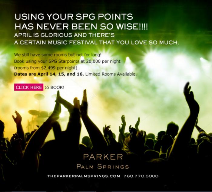SPG Parker Palm Springs Coachella