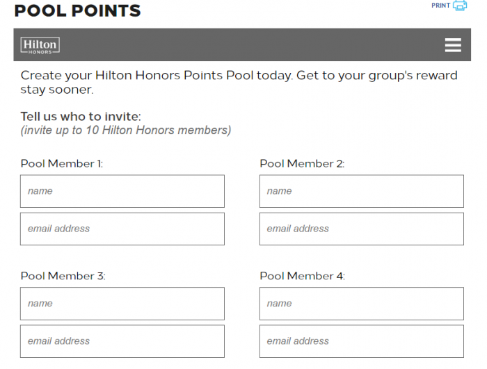 Hilton Honors Pool Points