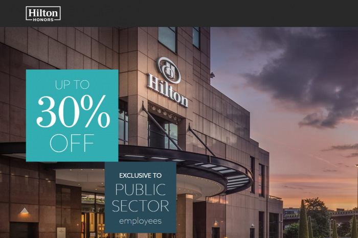 Hilton Honors Up To 30 Percent Off Public Sector Offer
