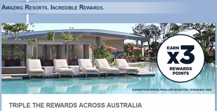 Le Club AccorHotels Australia Resorts Tripe Points April 13 - June 30 2017