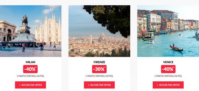 Le Club AccorHotels Private Sales April 13 Italy 2