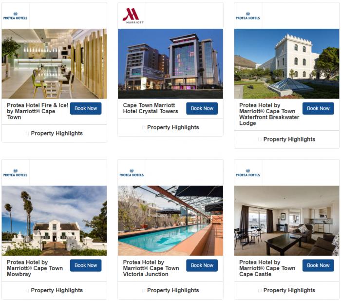 Marriott Rewards South Africa 1,000 Bonus Avios Per Stay May 1 - August 27 2017 Hotels 2