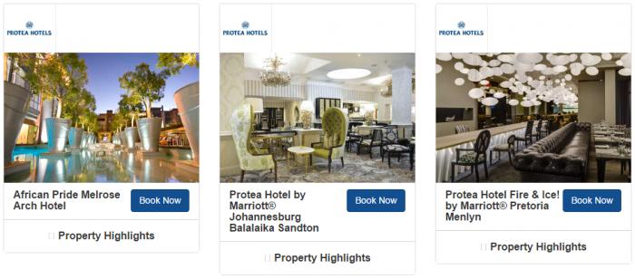 Marriott Rewards South Africa 1,000 Bonus Avios Per Stay May 1 - August 27 2017 Hotels 4