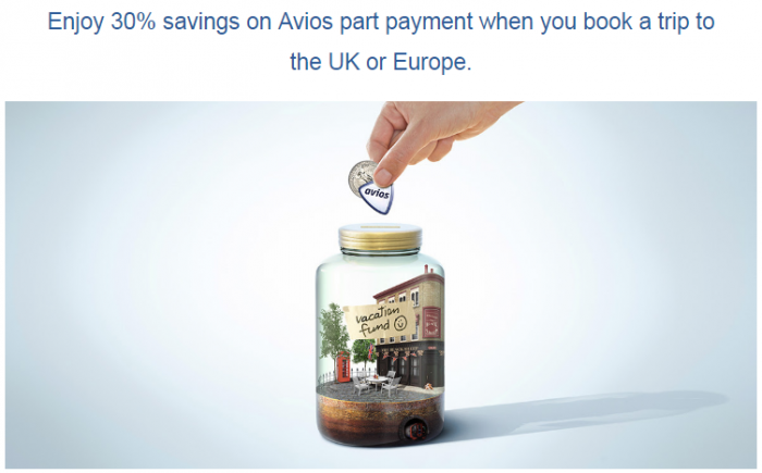 Brirish Airways Avios Part Payment 30 Percent Bonus