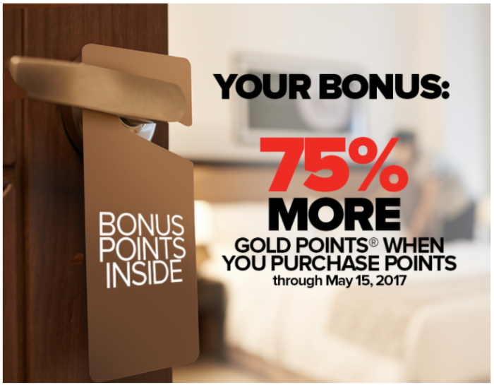 Club Carlson Buy Gold Points Targeted Offer Until May 15 2017