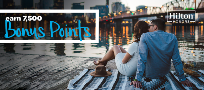 Hilton Honors Amex 7,500 Bonus Points For A Stay May 7 - August 7, 2017