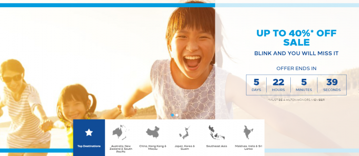 Hilton Honors Asia-Pacific Up To 40 Percent Off Flash Sale May 2017