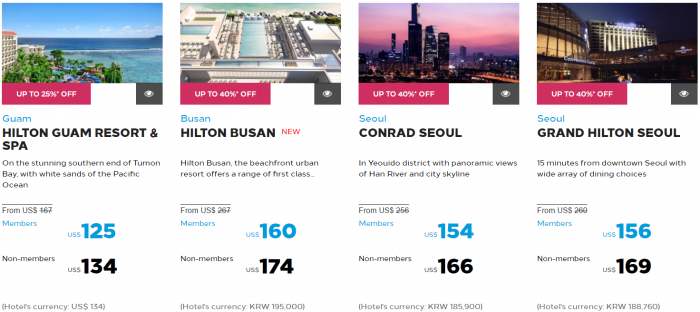 Hilton Honors Asia-Pacific Up To 40 Percent Off Flash Sale May 2017 Korea & Guam 1