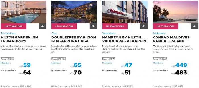 Hilton Honors Asia-Pacific Up To 40 Percent Off Flash Sale May 2017 Maldives India Sri Lanka 4