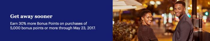 Hyatt World Of Hyatt Buy Points 30 Percent Bonus April 25 - May 23 2017