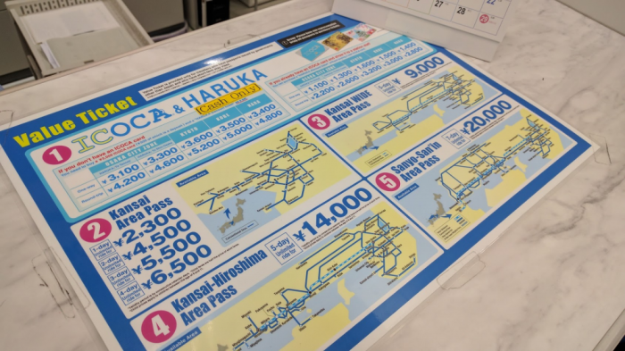 JR TIcket Office Osaka Passes More
