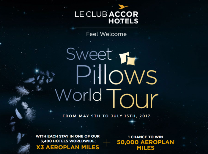Le Club AccorHotels Air Canada Aeroplan Triple Miles May 9 - July 15 2017