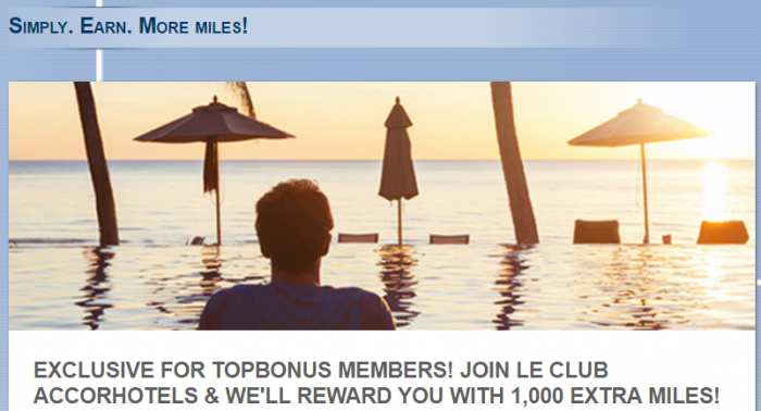Le Club AccorHotels Airberlin Topbonus 1000 Bonus Miles