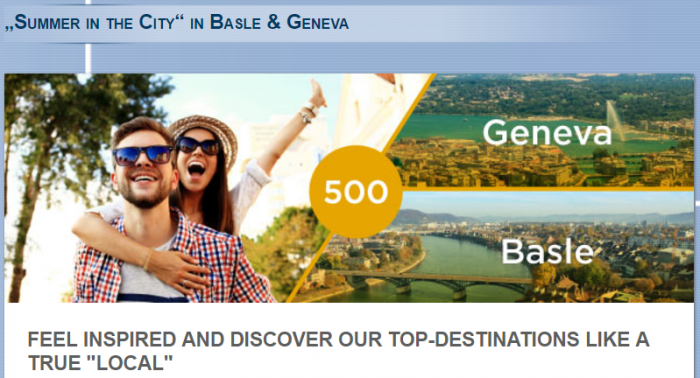 Le Club AccorHotels Basel & Geneva 500 Bonus Points May 24 - August 24 2017