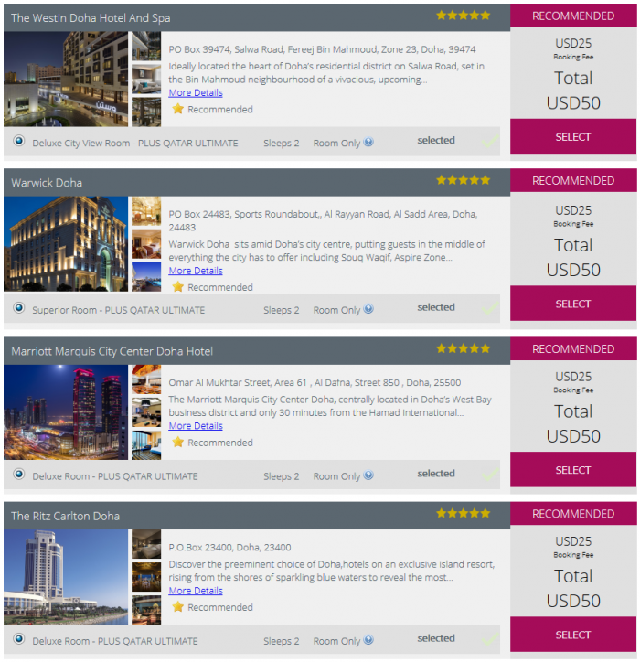 Qatar Airways Free Doha Stopover Ultimate Hotel Search