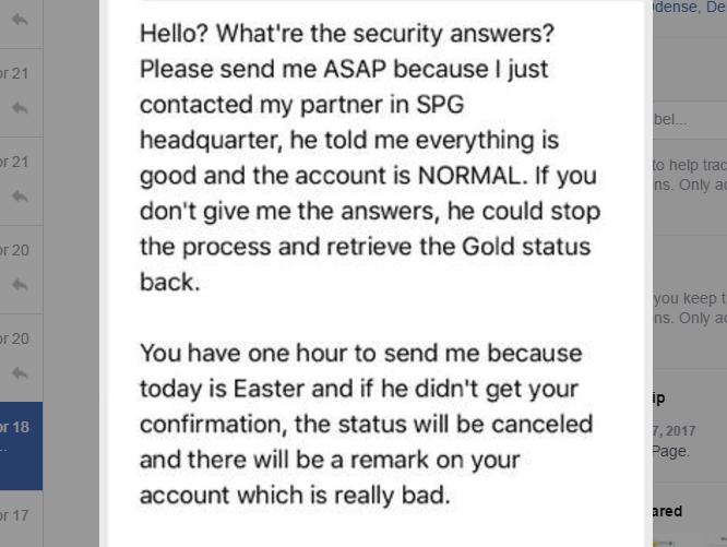 SPG Gold eBay Message