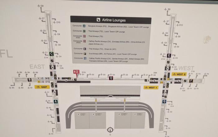 Singapore Airlines New SilverKris Lounge Suvarnabhumi Airport Lounges Chart