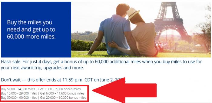 United Airlines Mileage Plus Bonus